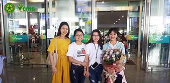 Đón đoàn Thực tập sinh ngành Dịch vụ của Học viện Nông nghiệp Việt Nam về nước ngày 9/8/2018